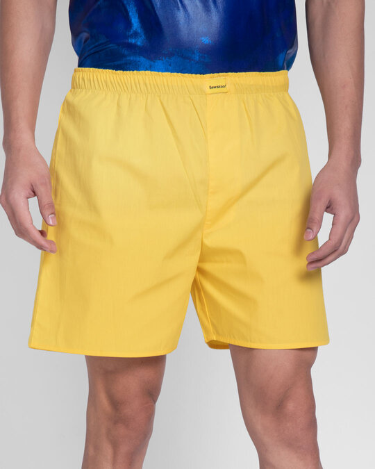 Shop Happy Yellow Boxer-Back