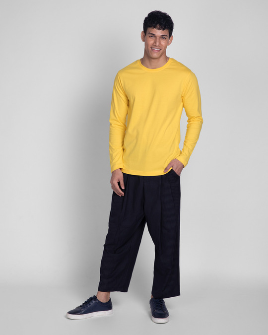 Shop Happy Yellow Full Sleeve T-Shirts