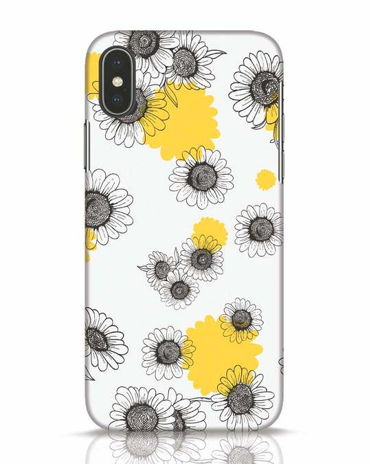 Shop Sunflowers Yellow iPhone X Mobile Cover-Front