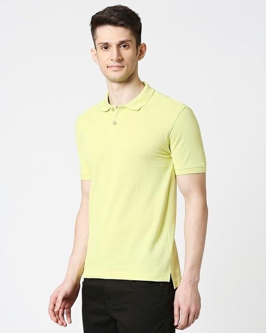 Shop Sunny Lime  Pique Polo-Design