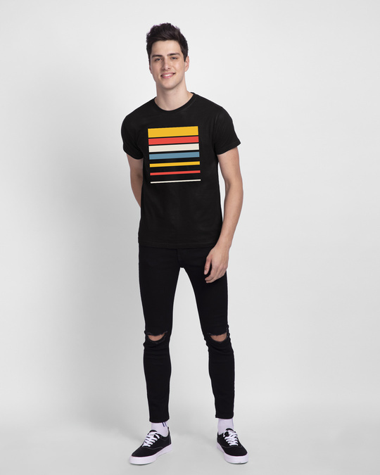 Shop Sunset Block Half Sleeve T-Shirt-Design