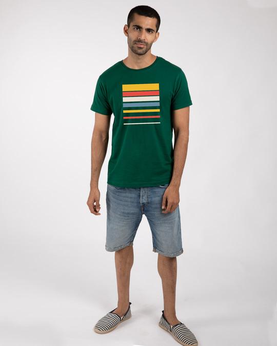 Shop Sunset Block Half Sleeve T-Shirt-Design