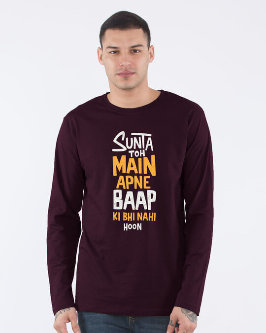 Shop Sunta To Main Full Sleeve T-Shirt-Front