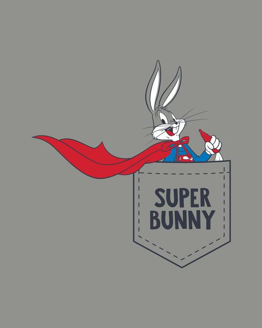 Shop Super Bunny Half Sleeve T-Shirt (LTL)-Full