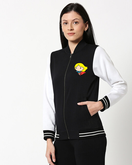 Shop Super Girl Varsity Bomber Jacket-Back