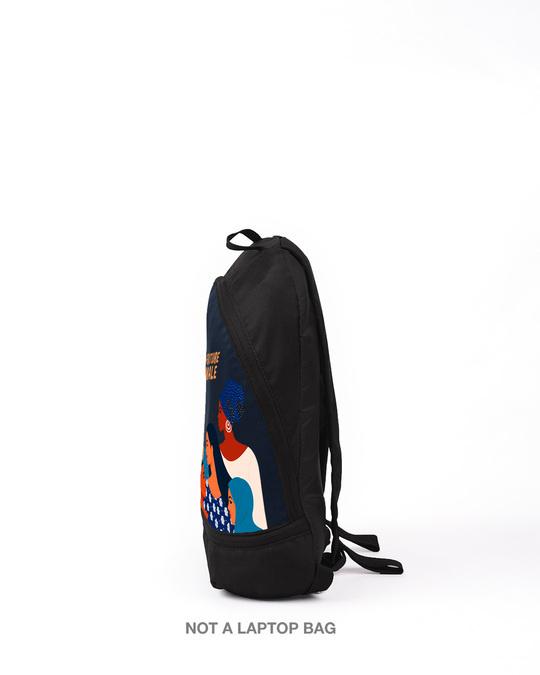Shop Super Future Girls Printed Mini Small Backpacks (DCL)-Back