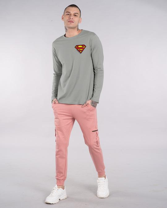 Shop Superman Badge Full Sleeve T-Shirt (SL)