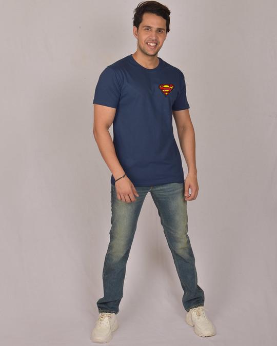 Shop Superman Badge Half Sleeve T-Shirt (SL)-Full