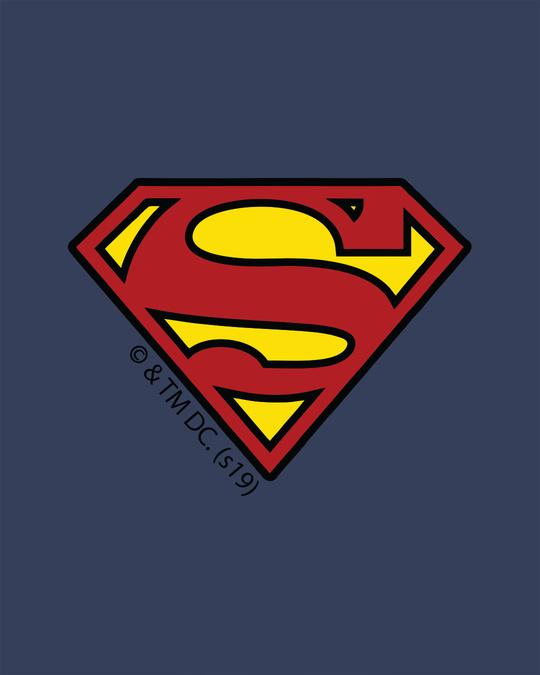 Shop Superman Badge Half Sleeve T-Shirt (SL)