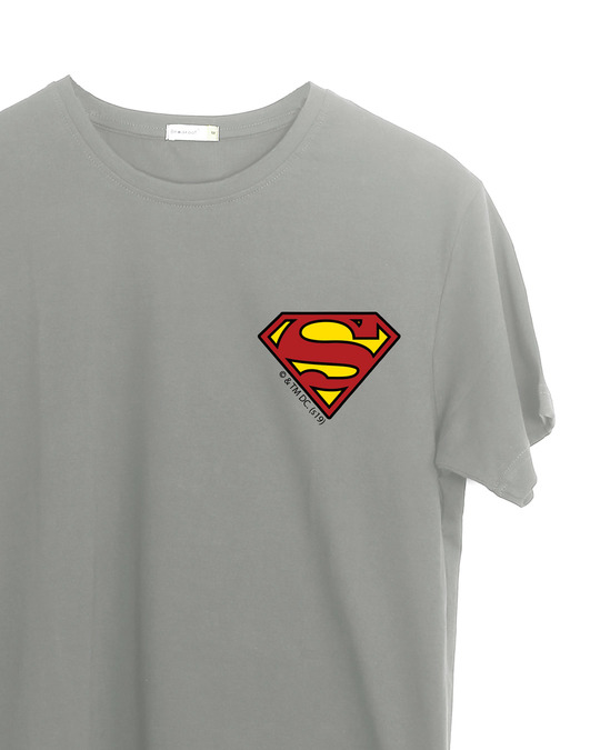 Shop Superman Badge Half Sleeve T-Shirt (SL)-Back