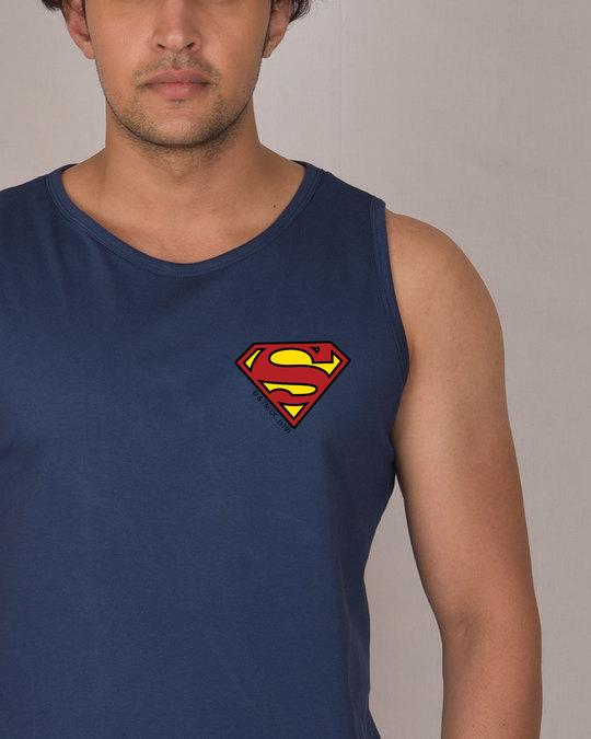 Shop Superman Badge Vest (SL)-Front