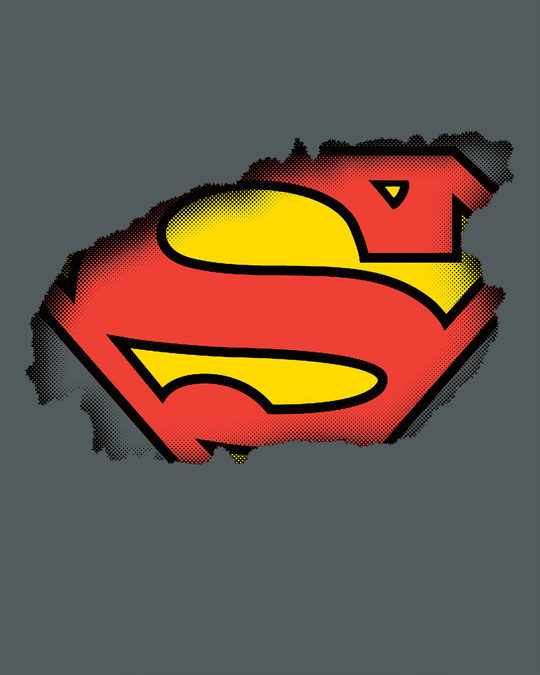 Shop Superman Break The Wall Half Sleeve T-Shirt (SML)
