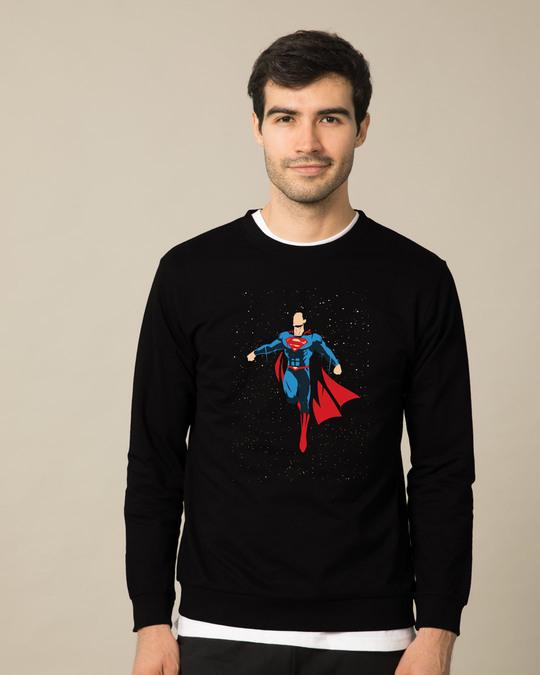 Shop Superman By The Stars Fleece Light Sweatshirts (SML)-Front