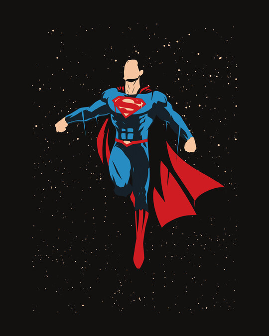 Shop Superman By The Stars Full Sleeve T-Shirt (SML)