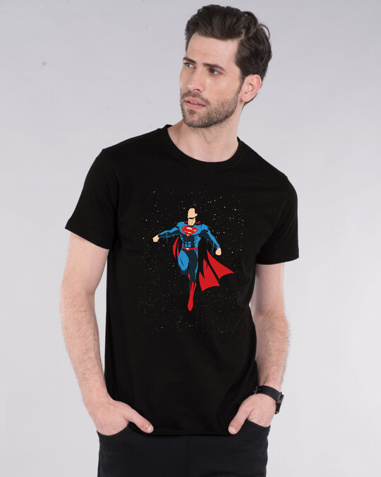 Shop Superman By The Stars Half Sleeve T-Shirt (SML)-Front