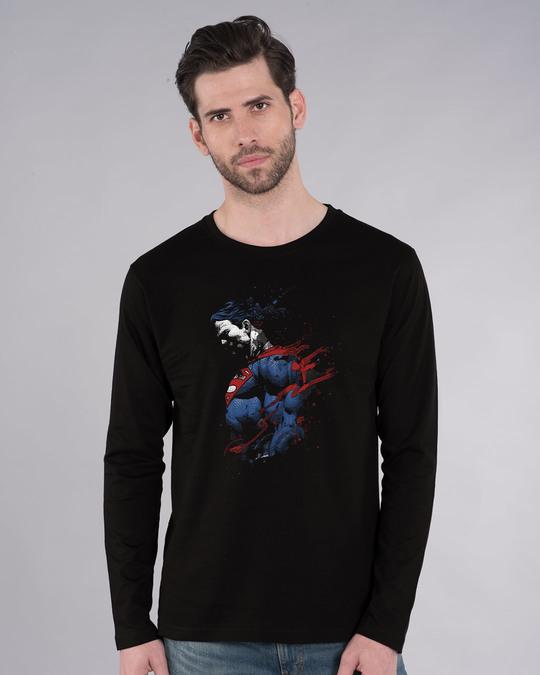 Shop Superman Colors Full Sleeve T-Shirt (SL)-Front