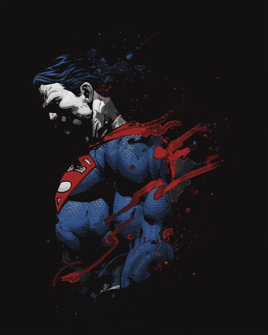 Shop Superman Colors Full Sleeve T-Shirt (SL)-Full