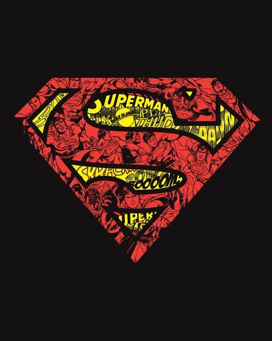 Shop Superman Doodle Boyfriend T-Shirt (SL)