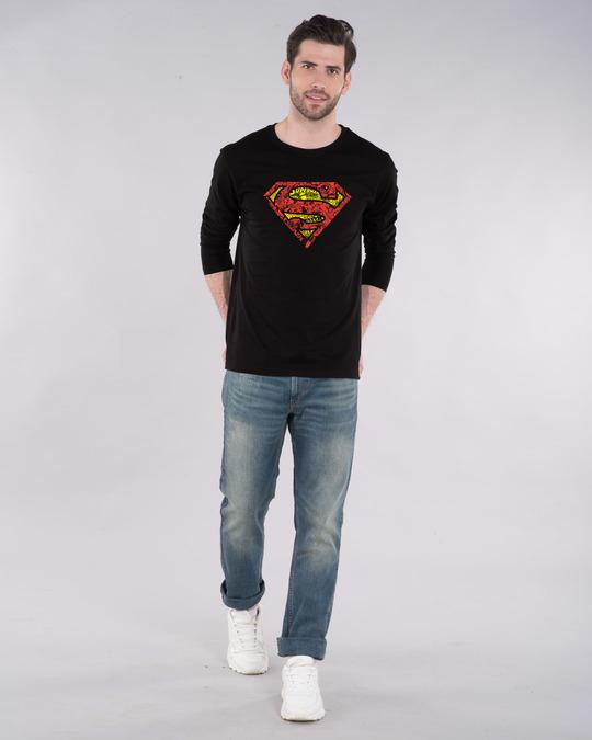 Shop Superman Doodle Full Sleeve T-Shirt (SL)-Design