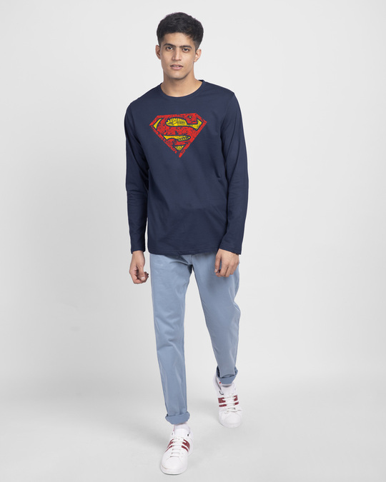Shop Superman Doodle Full Sleeve T-Shirt (SL)-Design