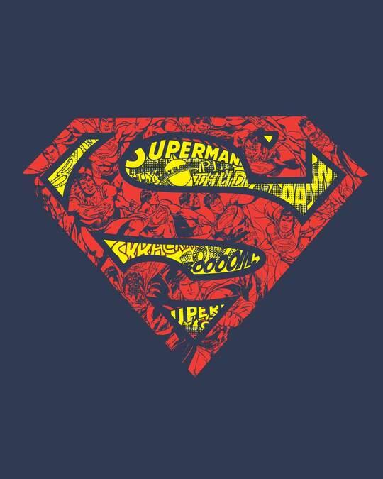 Shop Superman Doodle Half Sleeve T-Shirt (SL)-Full