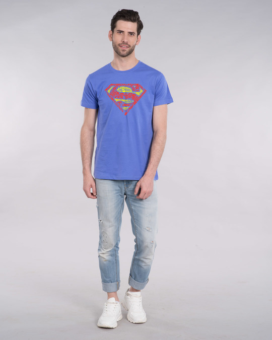 Shop Superman Doodle Half Sleeve T-Shirt (SL)-Design