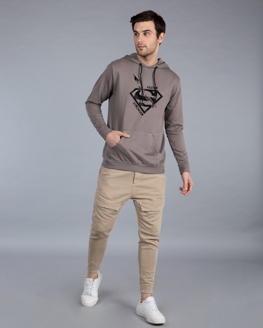 Shop Superman Faster Stronger Fleece Hoodie (SML)-Full