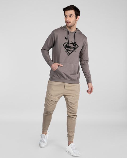 Shop Superman Faster Stronger Fleece Hoodie (SML)-Full