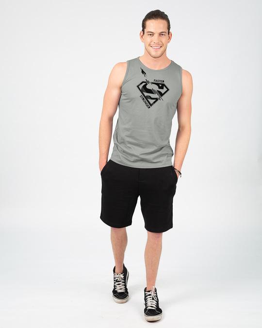 Shop Superman Faster Stronger Vest (SML)-Full