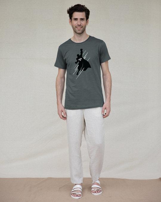 Shop Superman Flight Glow In Dark Half Sleeve T-Shirt (SL) -Design