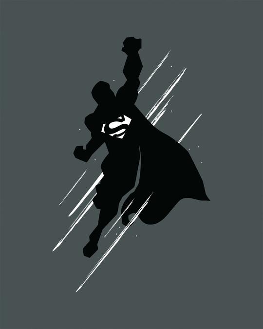Shop Superman Flight Glow In Dark Half Sleeve T-Shirt (SL) -Full