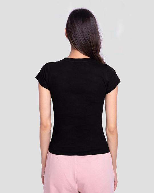 Shop Superman Floral Half Sleeve Printed T-Shirt Black (SML)-Back
