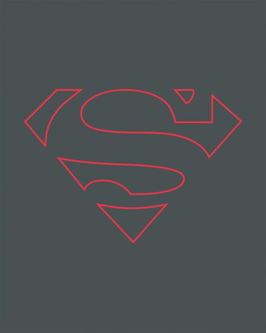 Shop Superman Line Boyfriend T-Shirt (SML)-Full