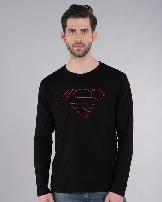 Shop Superman Line Full Sleeve T-Shirt (SML)-Front