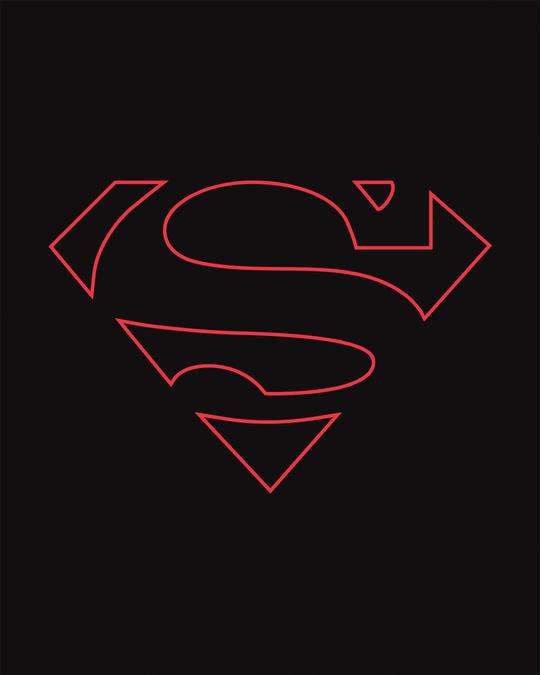Shop Superman Line Full Sleeve T-Shirt (SML)