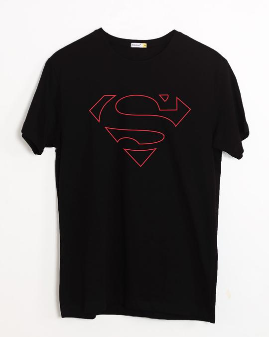 Shop Superman Line Half Sleeve T-Shirt (SML)-Front