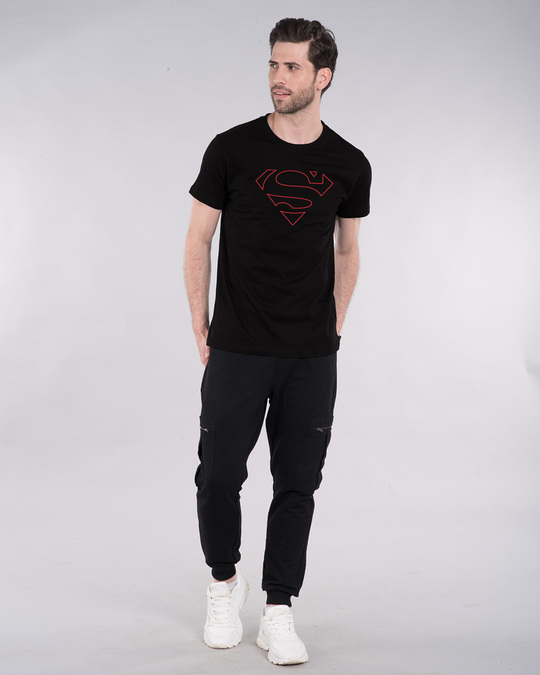 Shop Superman Line Half Sleeve T-Shirt (SML)-Design