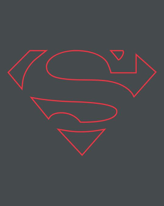 Shop Superman Line Half Sleeve T-Shirt (SML)-Full