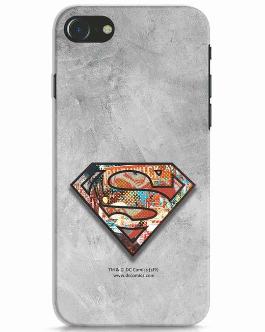 Shop Superman Logo Collage iPhone 7 Mobile Cover-Front