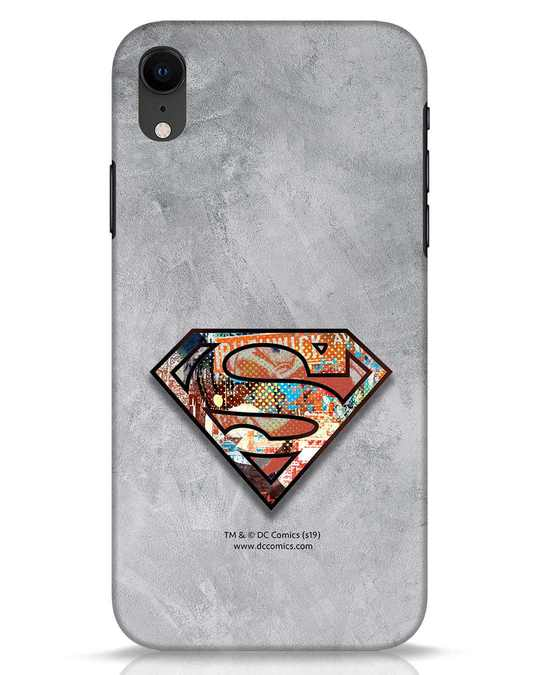 Shop Superman Logo Collage iPhone XR Mobile Cover-Front