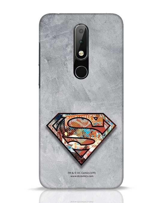 Shop Superman Logo Collage Nokia 6.1 Plus Mobile Cover-Front