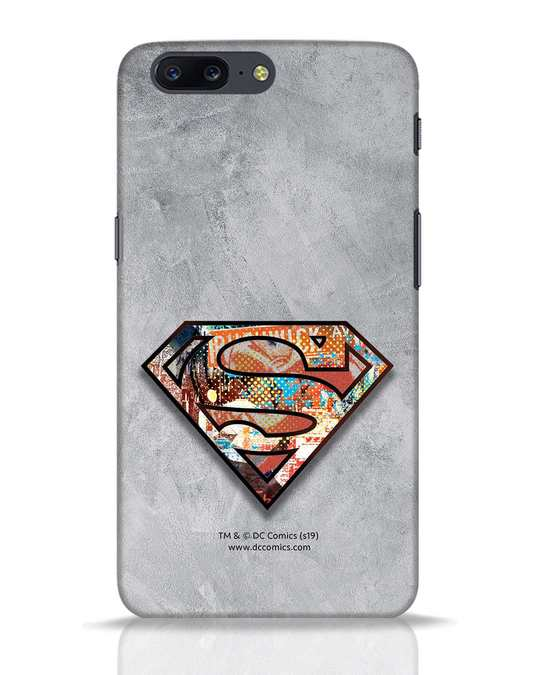 Shop Superman Logo Collage OnePlus 5 Mobile Cover-Front