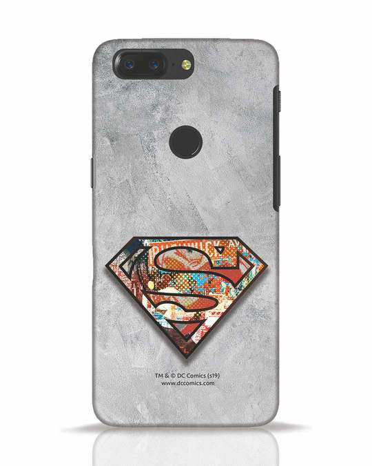 Shop Superman Logo Collage OnePlus 5T Mobile Cover-Front
