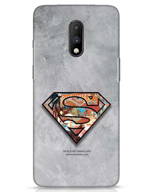 Shop Superman Logo Collage OnePlus 7 Mobile Cover-Front