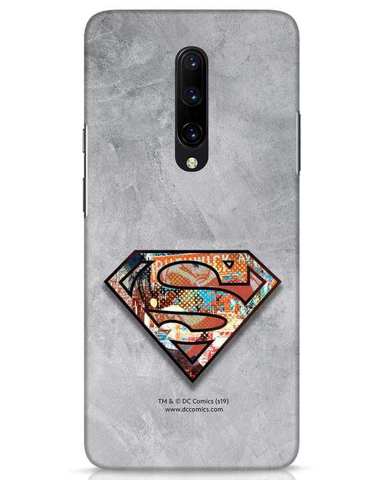 Shop Superman Logo Collage OnePlus 7 Pro Mobile Cover-Front