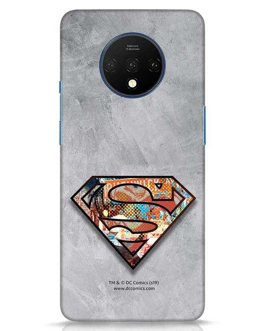 Shop Superman Logo Collage OnePlus 7T Mobile Cover-Front