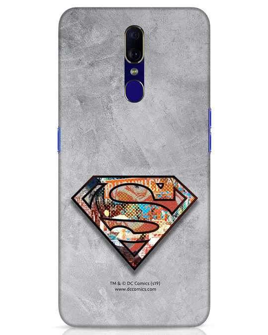 Shop Superman Logo Collage Oppo F11 Mobile Cover-Front