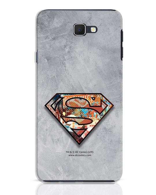 Shop Superman Logo Collage Samsung Galaxy J7 Prime Mobile Cover-Front