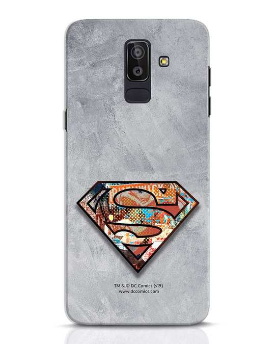 Shop Superman Logo Collage Samsung Galaxy J8 Mobile Cover-Front