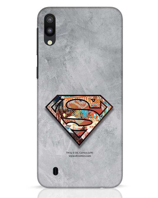Shop Superman Logo Collage Samsung Galaxy M10 Mobile Cover-Front